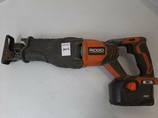 RIDGID RECIPROCATING SAW  WITH BATTERY