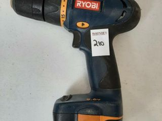 RYOBI CORDlESS DRIll WITH BATTERY  NO CHARGER