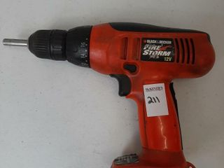 BlACK AND DECKER DRIll  NO BATTERY   NO CHARGER