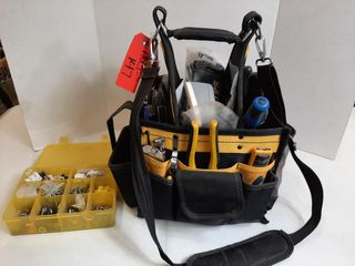 DEWAlT TOOl BAG WITH ASSORTED TOOlS   BROTHER