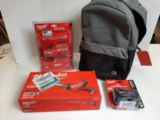 BACKPACK WITH MIlWAUKEE HACKZAll  BATTERY AND