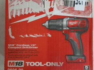 MIlWAUKEE CORDlESS 1 2  COMPACT DRIll   DRIVER