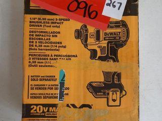 DEWAlT 1 4  3 SPEED BRUSHlESS IMPACT DRIVER  NO