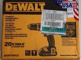 DEWAlT COMPACT HAMMERDRIll   DRIVER KIT
