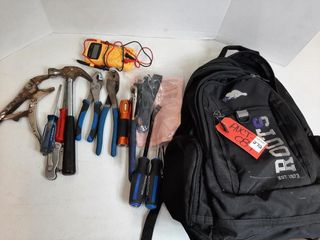 BACKPACK OF ASSORTED TOOlS