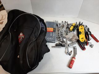 BACKPACK WITH ASSORTED WRENCHES AND ASSORTED