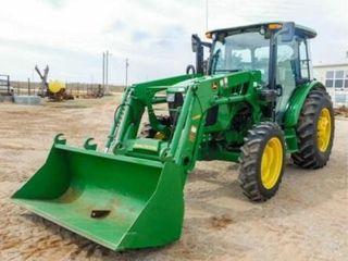2017 John Deere 5075E Tractor W H240 loader