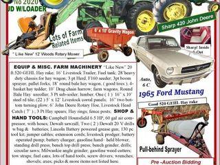 Farm Tractors & Equipment Pre-Bidding Now