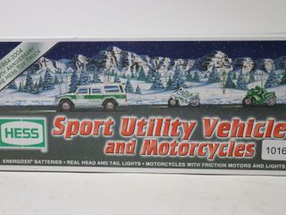 HESS SPORT UTIlITY VEHIClE AND MOTORCYClES 11