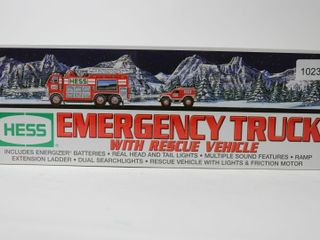 HESS EMERGENCY TRUCK WITH RESCUE VEHIClE 12