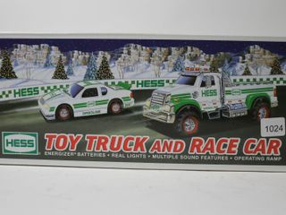 HESS TOY TRUCK AND RACE CAR 12