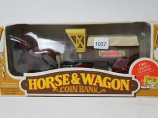 HOME HARDWARE HORSE AND WAGON COIN BANK