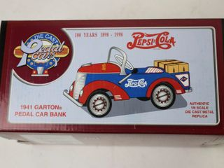 PEPSI COlA PEDAl CAR BANK 1 6