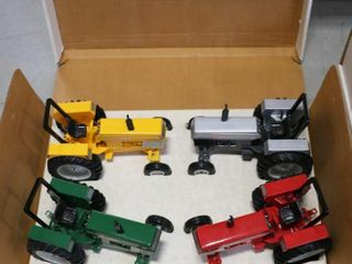 4 PIECE WHITE AMERICAN OPEN STATION TRACTORS