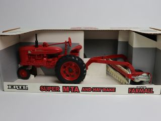 INTERNATIONAl SUPER MTA TRACTOR AND HAY RAKE