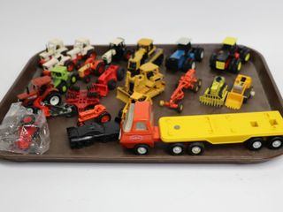 GROUP OF ASSORTED TRACTORS AND IMPlEMENTS 1 64