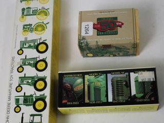 3 JOHN DEERE TRACTOR SETS FROM 90 S ERTl 1 64