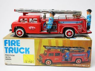 TIN FRICTION FIRE TRUCK 10
