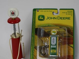 IH AND JOHN DEERE MINIATURE GAS PUMPS
