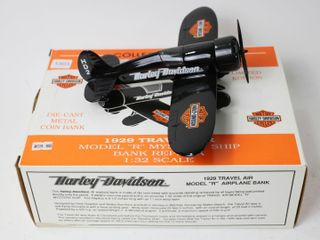 HARlEY DAVIDSON 1929 TRAVEl AIRPlANE BANK 1 32