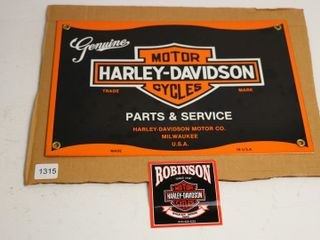 REPRODUCTION PORCElAIN HARlEY DAVIDSON SIGN