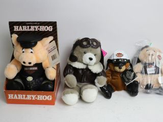lOT OF FOUR HARlEY DAVIDSON STUFFED BEARS