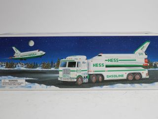 HESS TOY TRUCK AND SPACE SHIP WITH SATEllITE 15