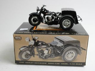 HARlEY DAVIDSON 1947 SERVI CAR BANK