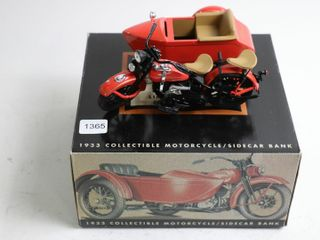 HARlEY DAVIDSON 1933 MOTORCYClE AND SIDECAR BANK