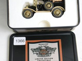 HARlEY DAVIDSON 1913 FORD MODEl T VAN DIME BANK