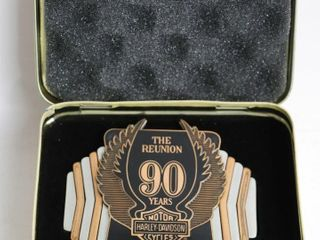 HARlEY DAVIDSON 90 YEAR REUNION BElT BUCKlE 4