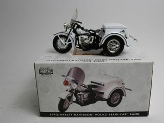 HARlEY DAVIDSON 1933 MOTOR CYClE AND SIDECAR BANK