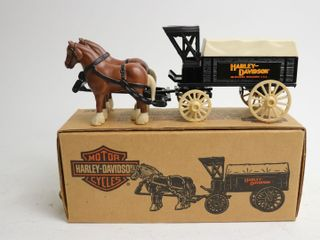 HARlEY DAVIDSON HORSE AND WAGON BANK 9  ERTl