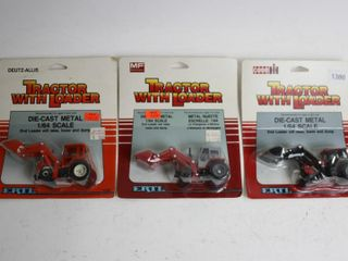 THREE ERTl 1 64 METAl TRACTORS 4