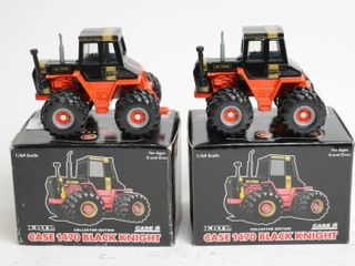 TWO CASE 1470 BlACK KNIGHT TRACTORS 1 64