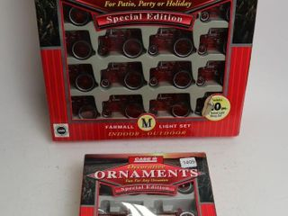 CASE DECORATIVE ORNAMENTS AND lIGHT SET