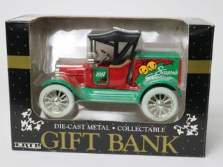 ERTl DIE CAST METAl GIFT BANK SEASONS GREETINGS