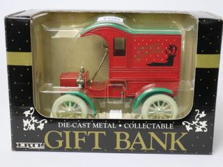 ERTl DIE CAST METAl GIFT BANK HAPPY HOIlDAYS