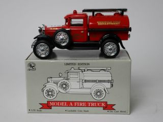 NORWICH FIRE DEPARTMENT MODEl A FIRE TRUCK BANK