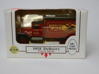 ANHEUSER BUSH INC 1931 DElIVERY TRUCK BANK