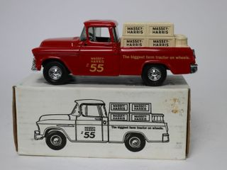 MASSEY HARRIS 1955 PICKUP TRUCK BANK ERTl 1 25