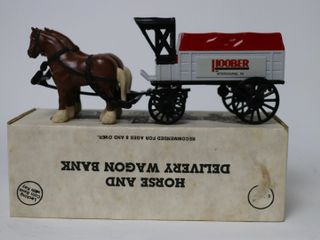 HOOBER HORSE AND DElIVERY WAGON BANK ERTl 9