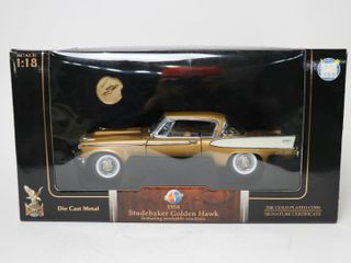 1958 STUDEBAKER GOlDEN HAWK 1 18 CAR