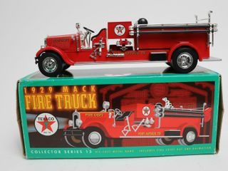 TEXACO 1929 MACK FIRE TRUCK BANK ERTl 9
