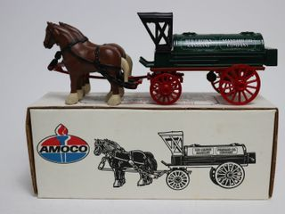 AMACO RED CROWN GASOlINE HORSE AND TANKER BANK