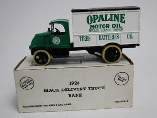 OPAlINE MOTOR OIl 1926 MACK DElIVERY TRUCK BANK