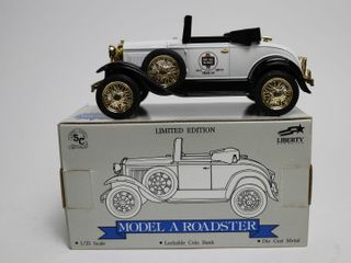 WHITE ROSE MODEl A ROADSTER BANK 1 25 SPEC CAST