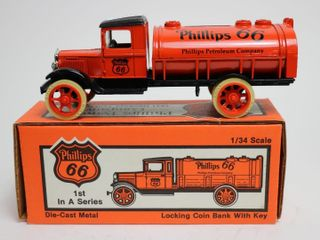 PHIllIPS 66 1931 HAWKEYE TANKER BANK 1 34 ERTl