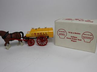 SHEll HORSE DRAWN TANK WAGON BANK SCAlE MODElS 13