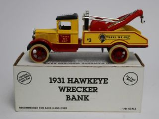 CHECK THE OIl 1931 HAWKEYE WRECKER BANK 1 34 ERTl